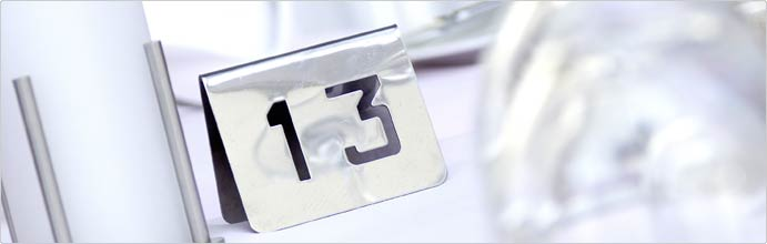 Tisch-/Tür-/Buffetschilder, Zimmernummern